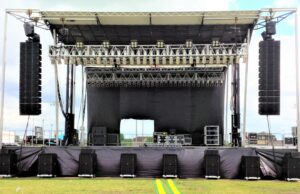 Sound setup for concert