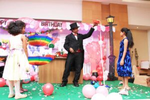 Magician at Birthday Party
