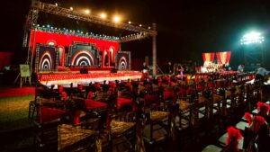 Stage for entertainment in Wedding