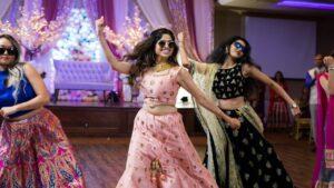 Bride dancing entry