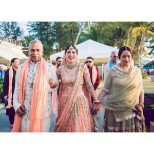 Wedding bride entry with Parents